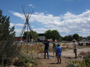 Tepee in front of the VC