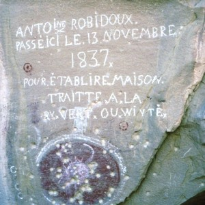Antoine Robidoux inscription, Westwater Creek, UT, 2001